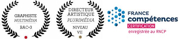 AGR, l'Ecole de l'Image - Rennes - RNCP Niveau 7 Directeur Artistique Plurimedia & Bac+3 Graphiste Multimedia